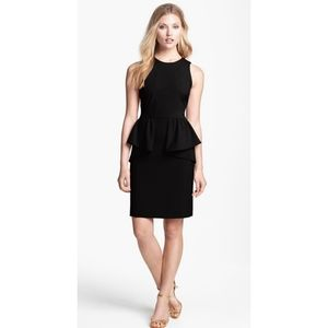 NWT Jessica jersey evening peplum dress black